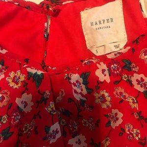 Francesca's Collections Dresses - Harper Heritage Red Floral Dress